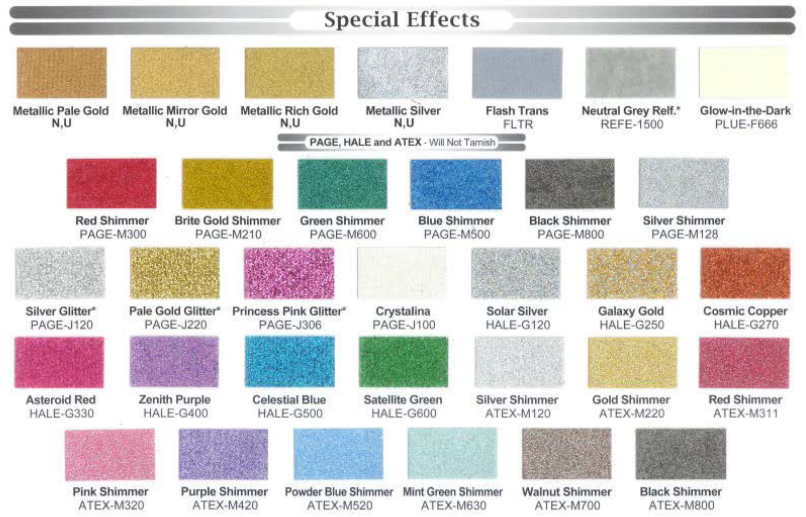 Ink Color Chart Houston Screen Print